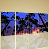 Large Coconut Palm Tree Landscape Contemporary On Canvas Art Print Decor BedRoom