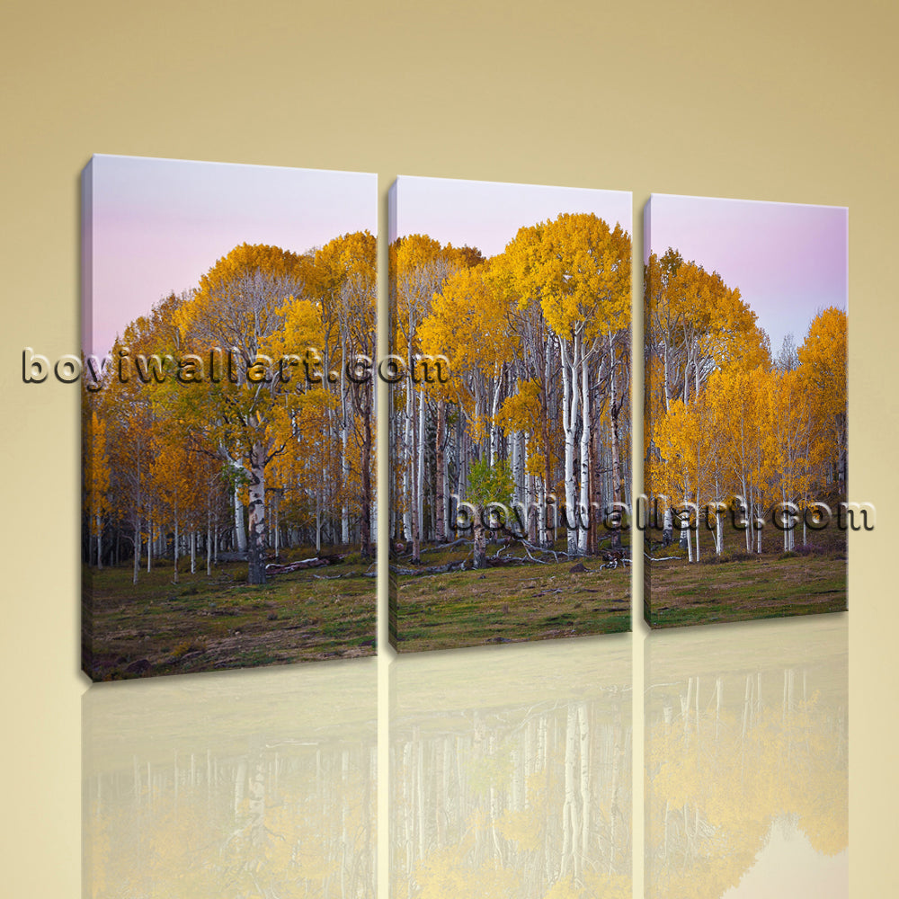 Large Deciduous Forest Fall Landscape Painting Giclee Printed On Canvas BedRoom