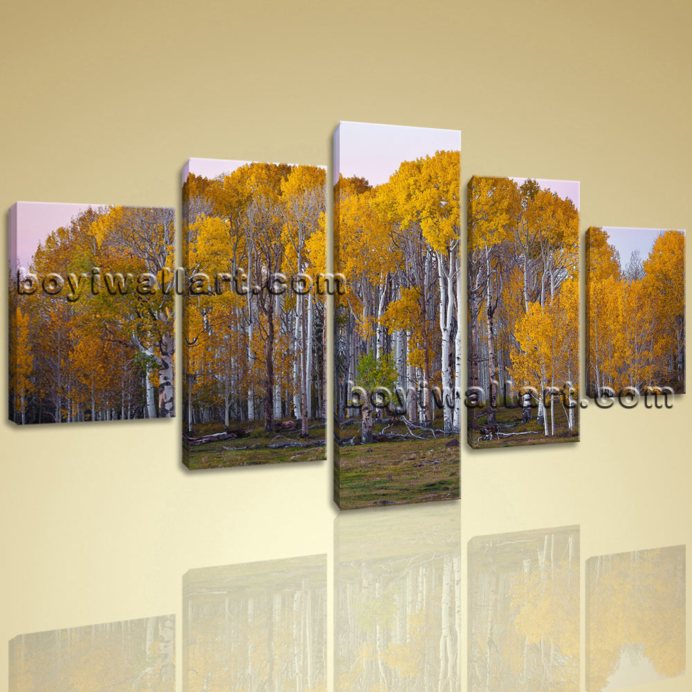 Large Deciduous Forest Fall Landscape On Canvas HD Giclee Print Wall Art