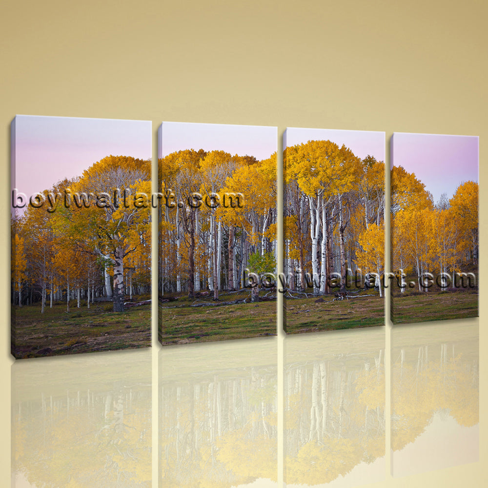 Large Deciduous Forest Fall Landscape Photography Canvas Wall Art Print BedRoom