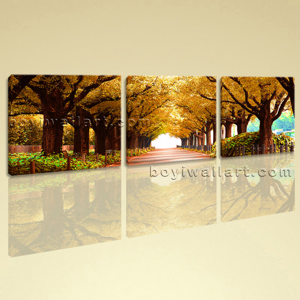 Large Autumn Fall Tree Landscape Contemporary On Canvas Wall Art Decor BedRoom