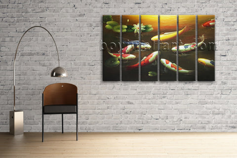 Large Feng Shui Painting Contemporary Wall Art On Canvas Print Decor Living Room