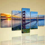 Large Golden Gate Bridge Landscape On Canvas Print Wall Home Decor Dining Room