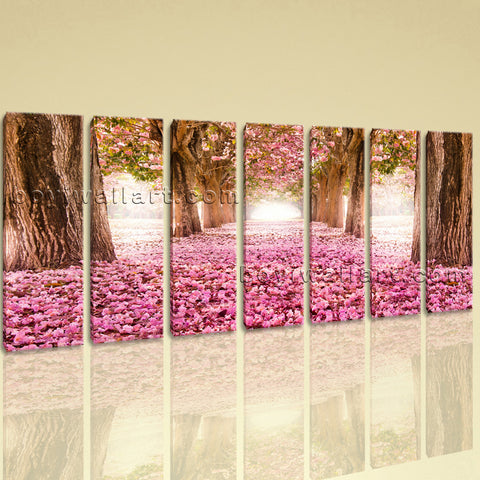Extra Large Spring Flowers Trees Floral Contemporary On Canvas Wall Art Print