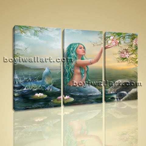 Large Fantasy Mermaids Figure Expressionism On Canvas Print Artwork BedRoom