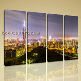 Large Taipei Cityscape Photography Painting Giclee Printed On Canvas Living Room