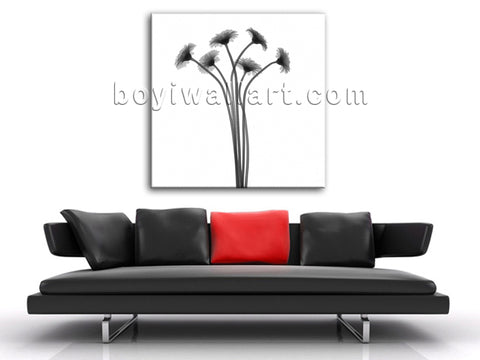 Modern Abstract Floral Painting HD Print Sunflower Canvas Wall Art Contemporary