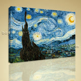 Van Gogh The Starry Night Canvas HD Picture Giclee Print Wall Art Home Decor