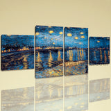 Large Famous Abstract Hd Print Impressionist Dining Room Tetraptych Panels