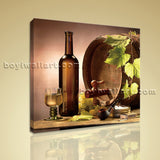 HD Print Abstract Painting Wall Art On Canvas Wine Food Dining Room Home Decor