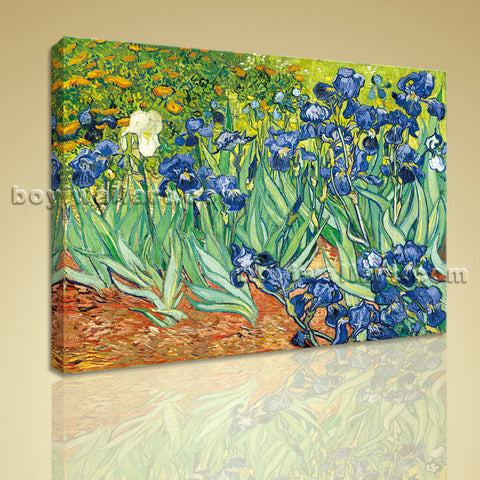 Van Gogn Irises Painting HD Giclee Printed On Canvas Home Decor Wall Art