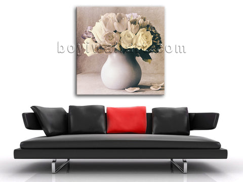 Modern Abstract Floral Painting HD Print On Canvas Still Life Bouquet Picture