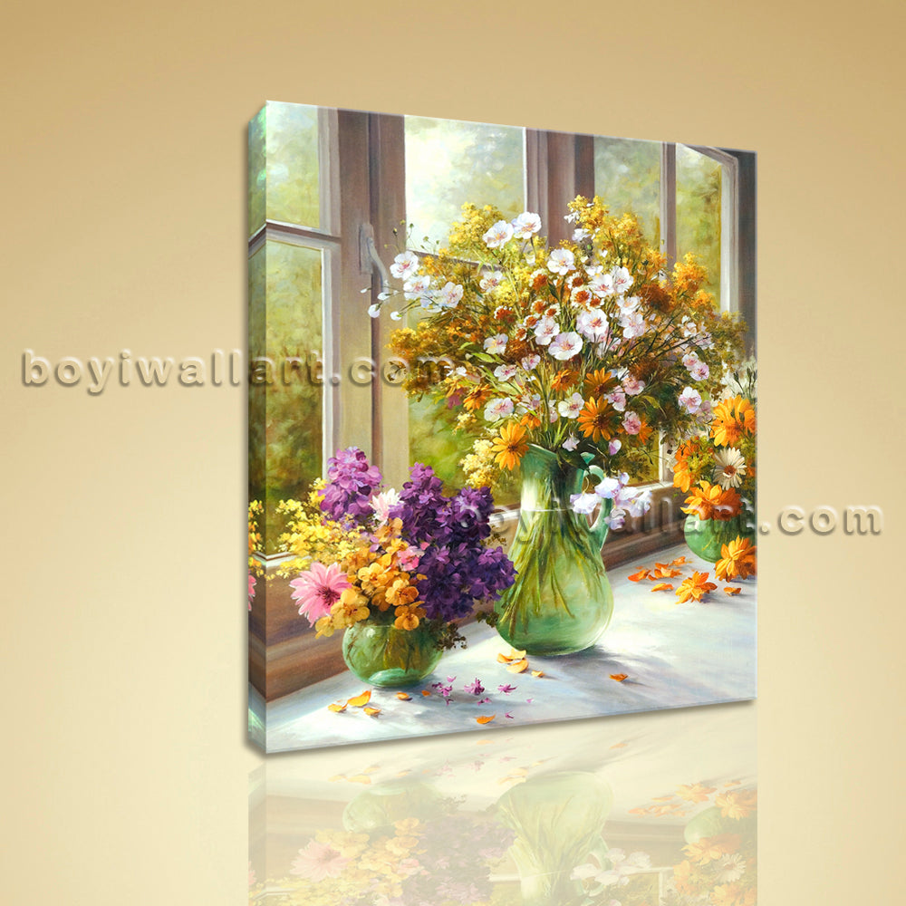 Classical Oil Painting HD Picture Giclee Print On Canvas Abstract Flower Bouquet