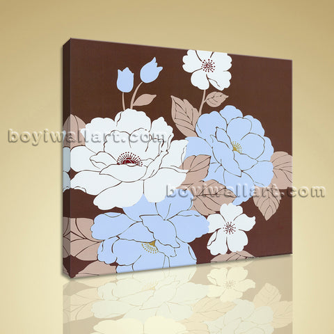 Modern Abstract Flower Painting Print On Canvas Wall Art Bathroom Decor