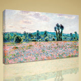 Poppy Field In Giverny Giclee HD Printed On Canvas Wall Art Decor New