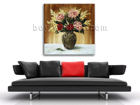 Still Life Classical Oil Painting Giclee Print On Canvas Bouquet Flower Wall Art