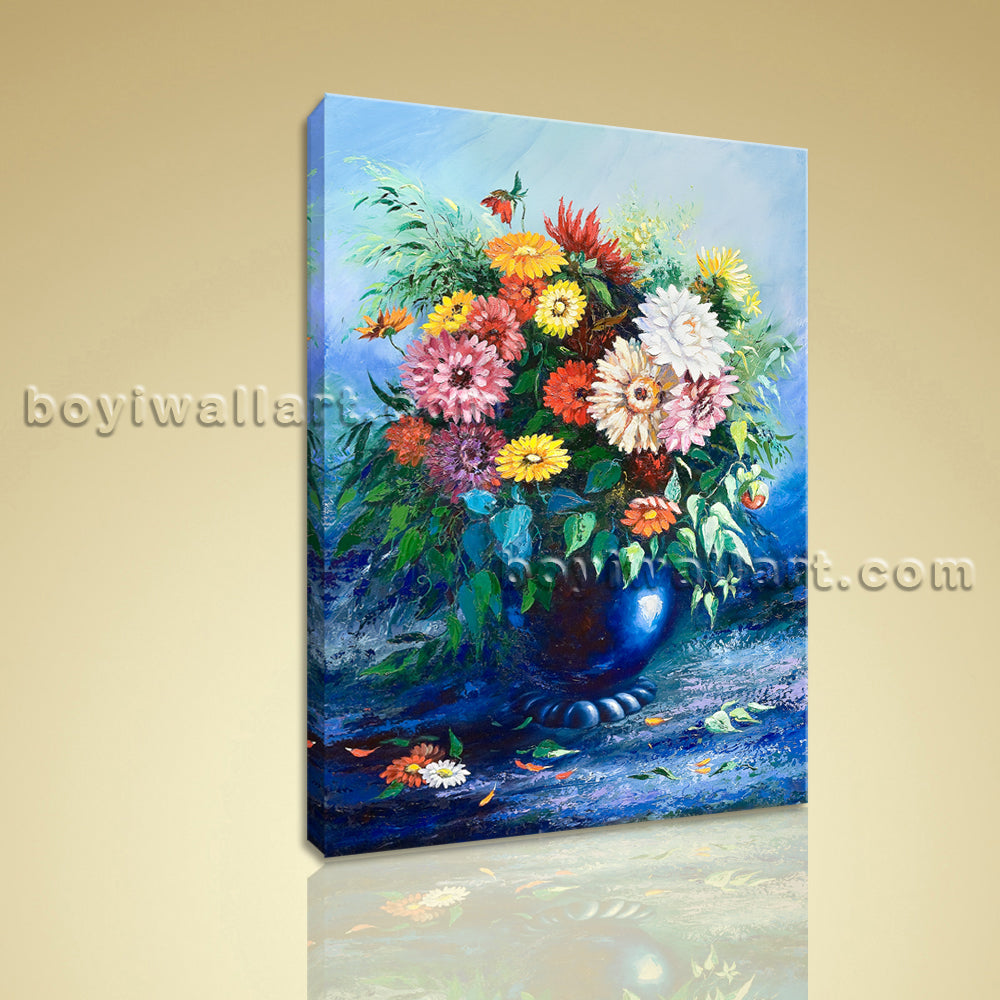 Classical Abstract Still Life Flower Bouquet Painting HD Print Canvas Wall Art