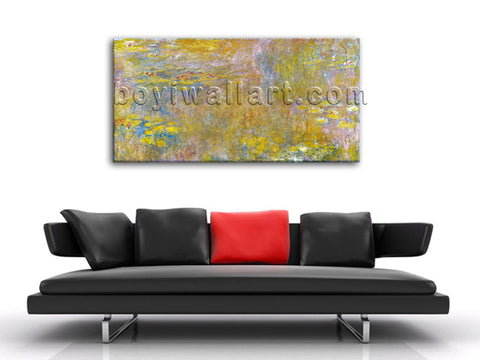 Water Lilies Nympheas Impressionist Painting Giclee Print On Canvas Wall Decor
