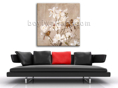 Modern Abstract Painting Floral Birds Picture HD Print On Canvas Wall Art