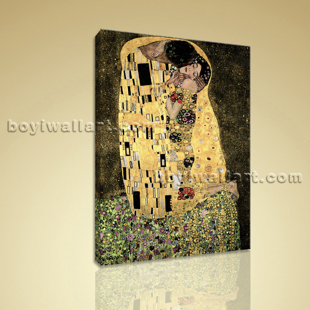 Symbolism Painting The Kiss Gustav Klimt HD Giclee Print On Canvas ...