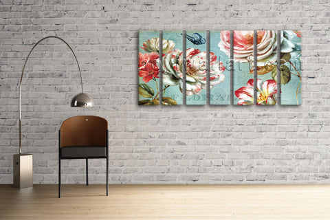 Contemporary Abstract Floral Painting Flower Picture HD Print Canvas Wall Art