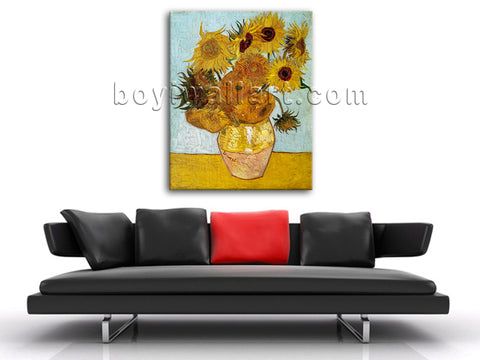 Van Gogn Sunflower Impressionist Painting Giclee Print On Canvas Gallery Wrapped