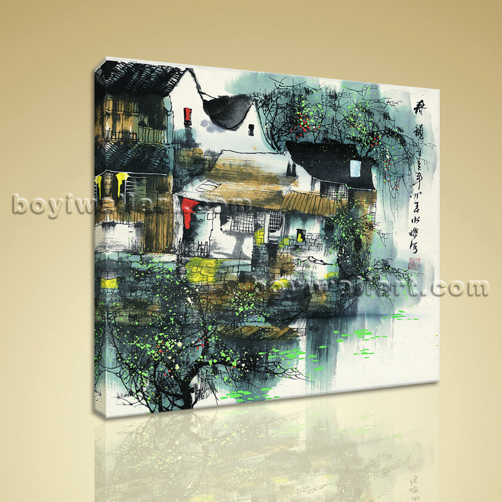 Classical Chinese Painting On Canvas HD Print Impressionist Landscape Wall Art