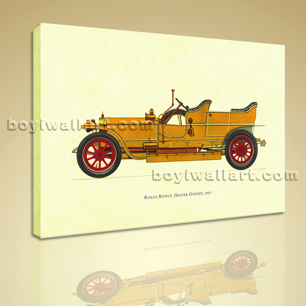 HD Print Canvas Wall Art Rolls-royce Silver Ghost 1907 Vintage Car Picture