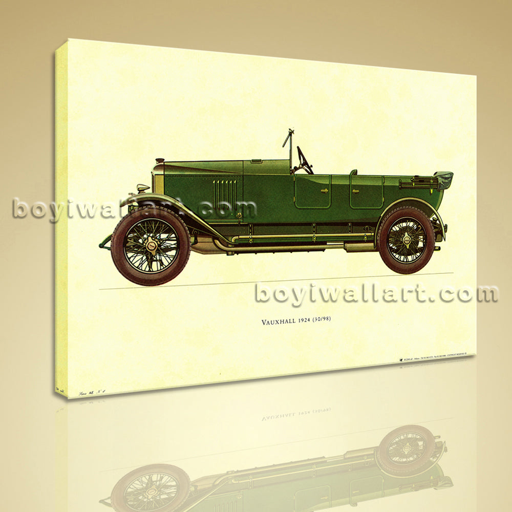 HD Print Canvas Wall Art Transportation Vauxhall 1924 Vintage Car Picture