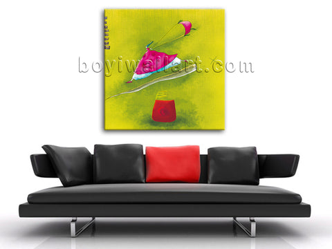 Modern Abstract Painting HD Print Nursery Picture Fairy Kid Room Canvas Wall Art