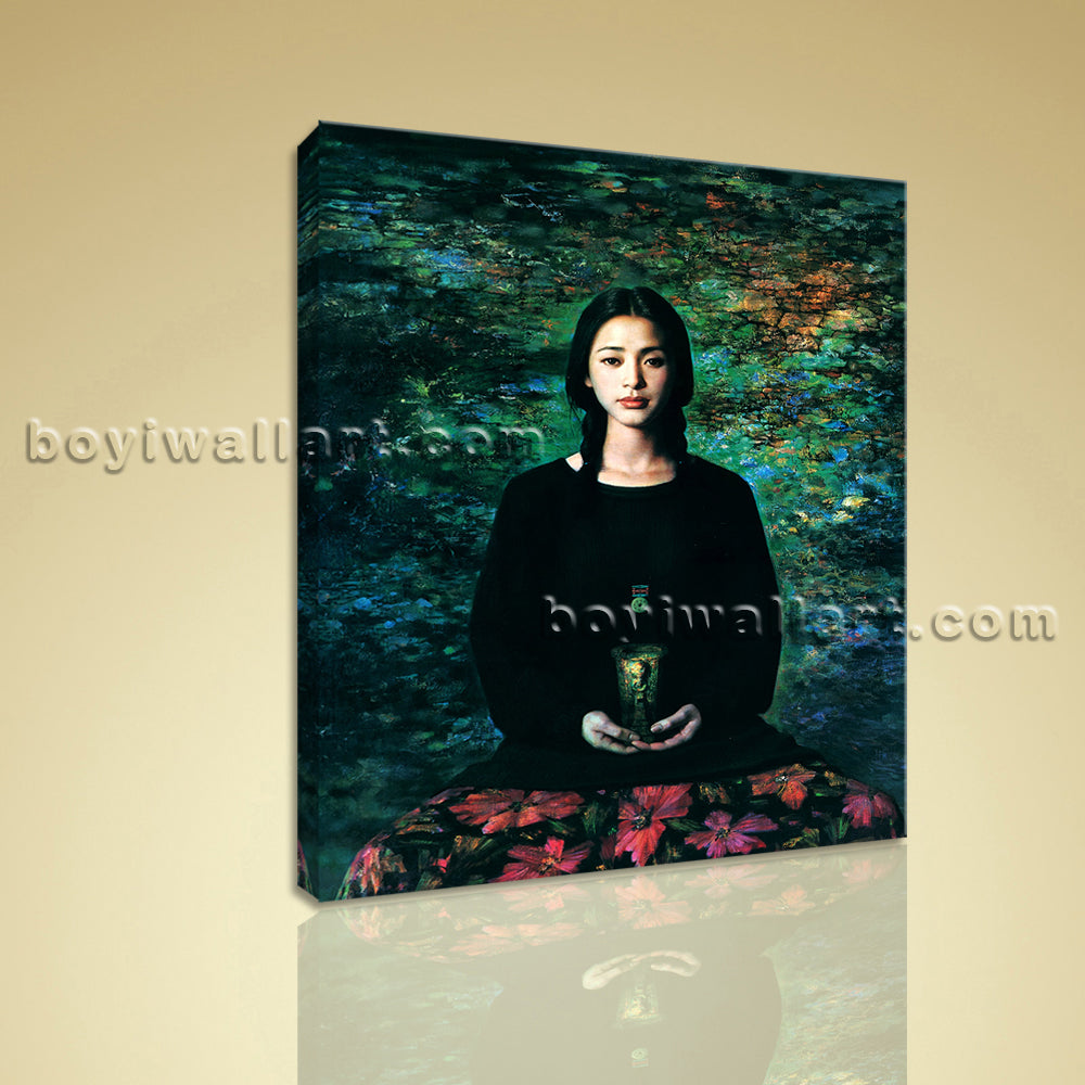 HD Print Of Nudes Oil Painting Realism Girl Portrait On Canvas Female Wall Art
