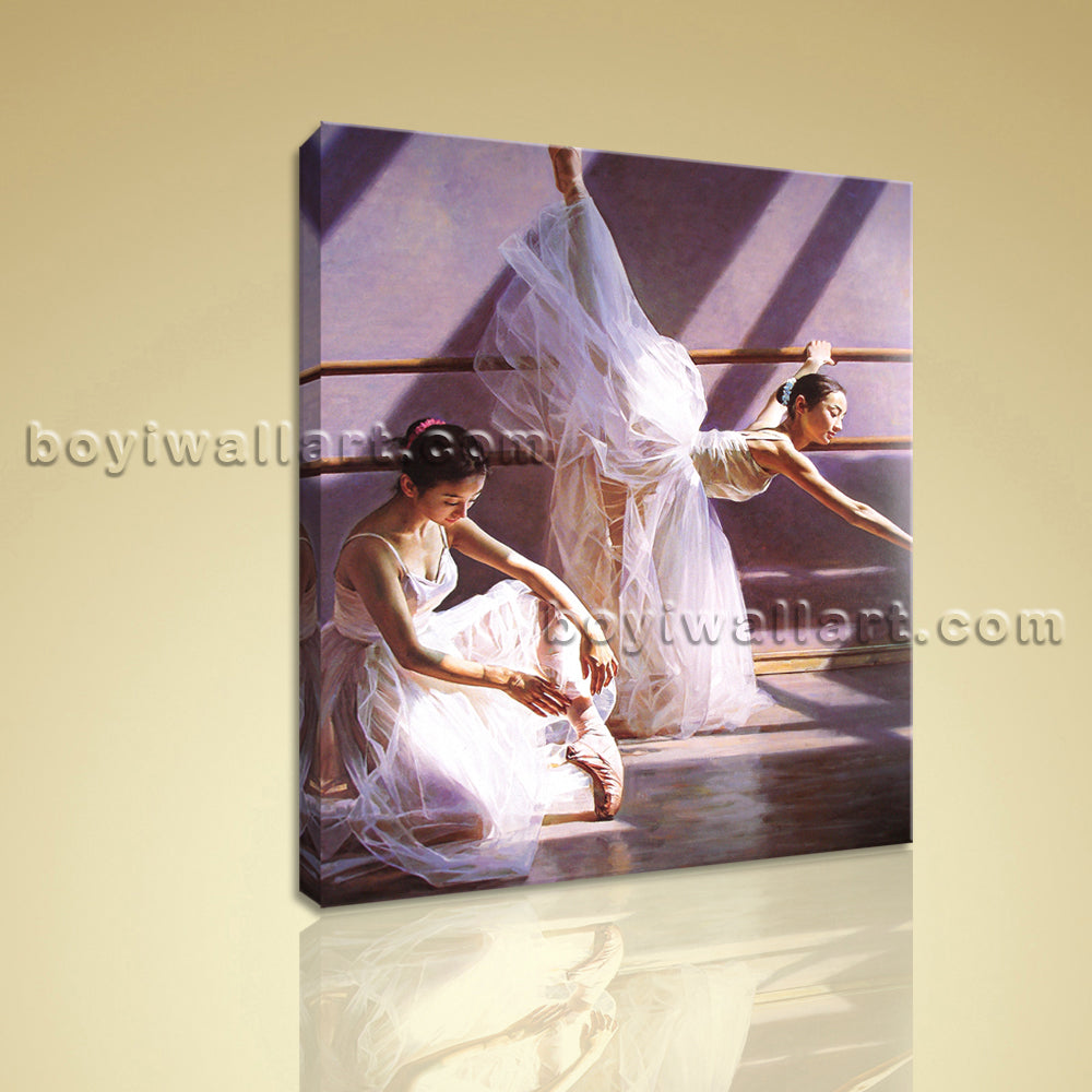 Modern Ballet HD Art Deco Print On Canvas Girl Ballet Dancers Living Room Decor