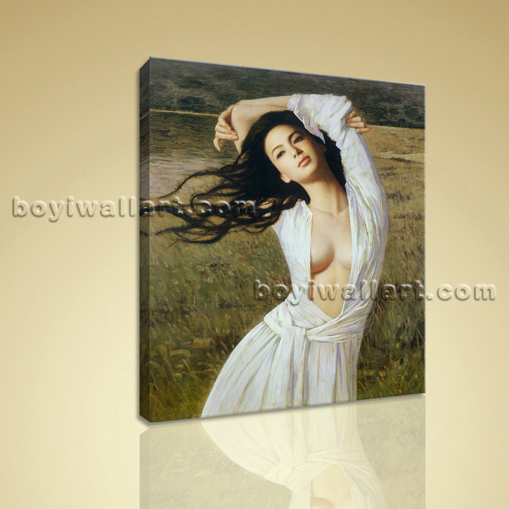 HD Print Of Nudes Girl Painting Realism Picture On Canvas Bedroom Wall Art