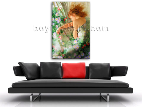 Modern Abstract Painting HD Print Nude Sexy Female Body Art Home Decor