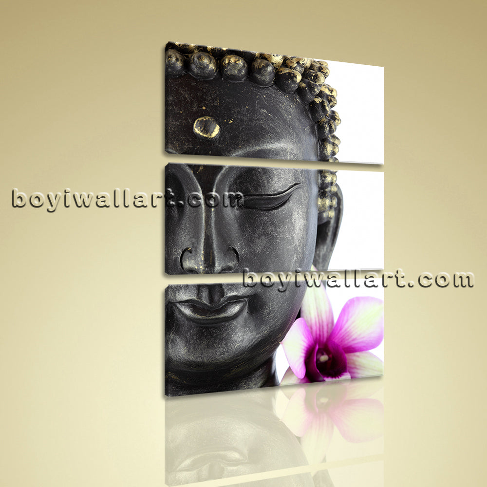 Large Feng Shui Buddha Canvas Contemporary Wall Art Print Vertical Entrance
