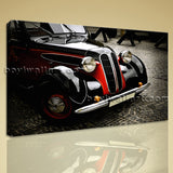 Elegant Designed Wall Art Print HD Picture Printed Stretched Canvas Vintage Car