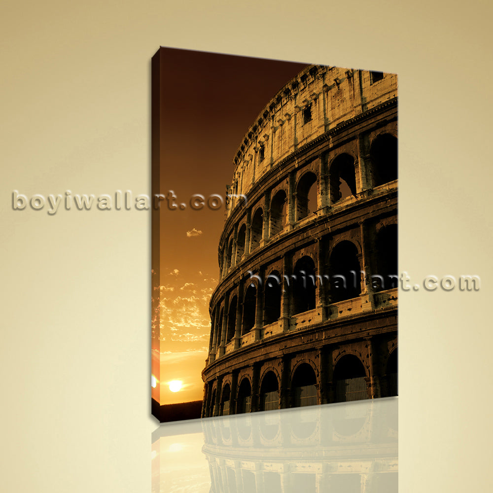 HD Print On Canvas Retro Landmarks Architecture Colosseum Picture Wall Art Decor