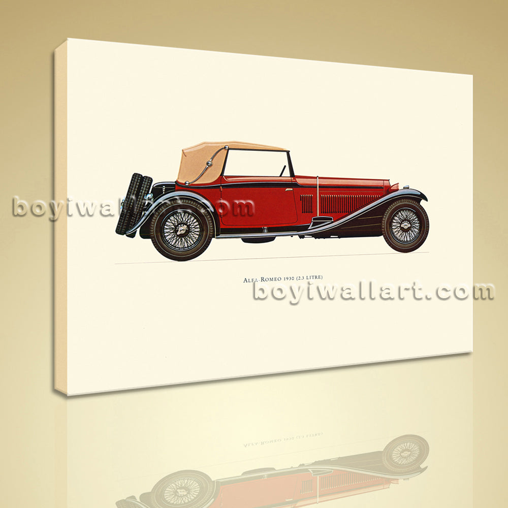 HD Print Classical Vintage Transportation Antique Car Picture Canvas Wall Art