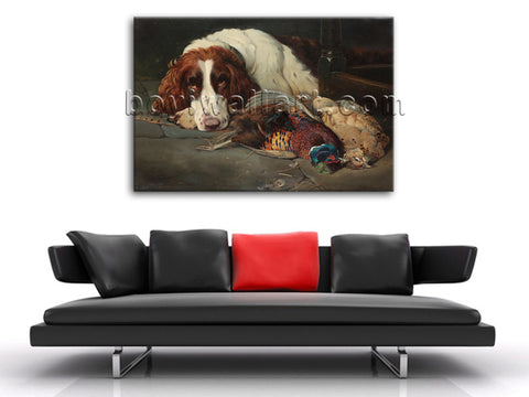 Classical Portrait Dog Painting HD Print Canvas Wall Art Picture Gallery Wrapped