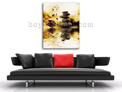 Feng Shui Zen Art Painting Contemporary Home Decoration Idea HD Print On Canvas