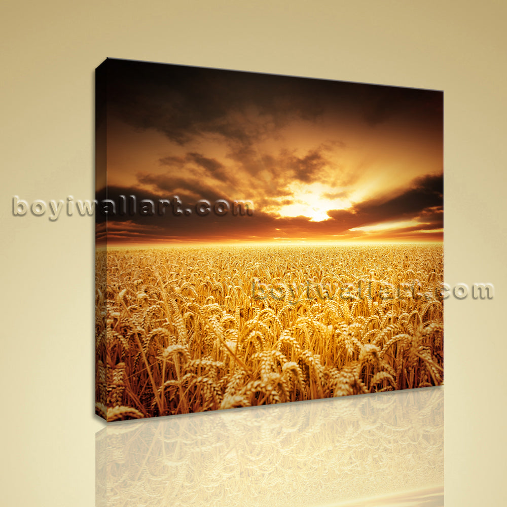 HD Print Canvas Wall Art Landscpae Sunset Kitchen Home Decor Gallery Wrapped