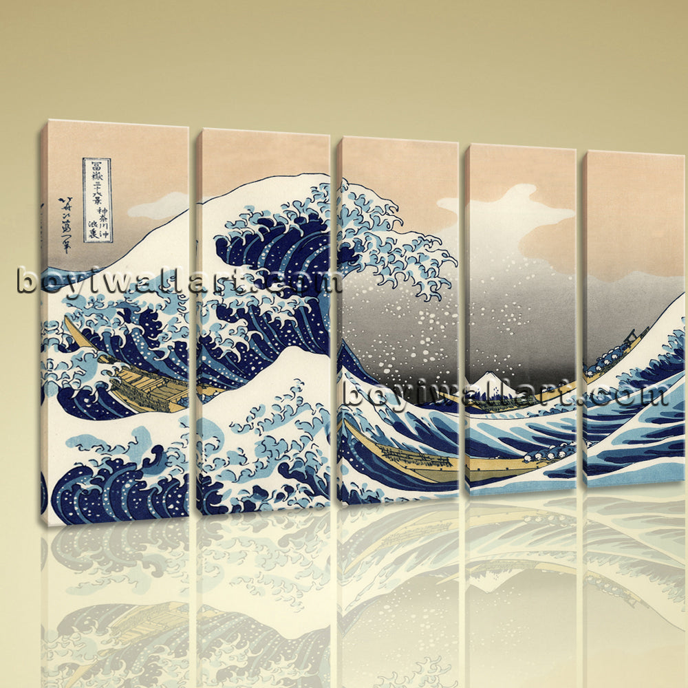 Classical Seascape Painting HD Print On Canvas The Great Wave Of Kanagawa