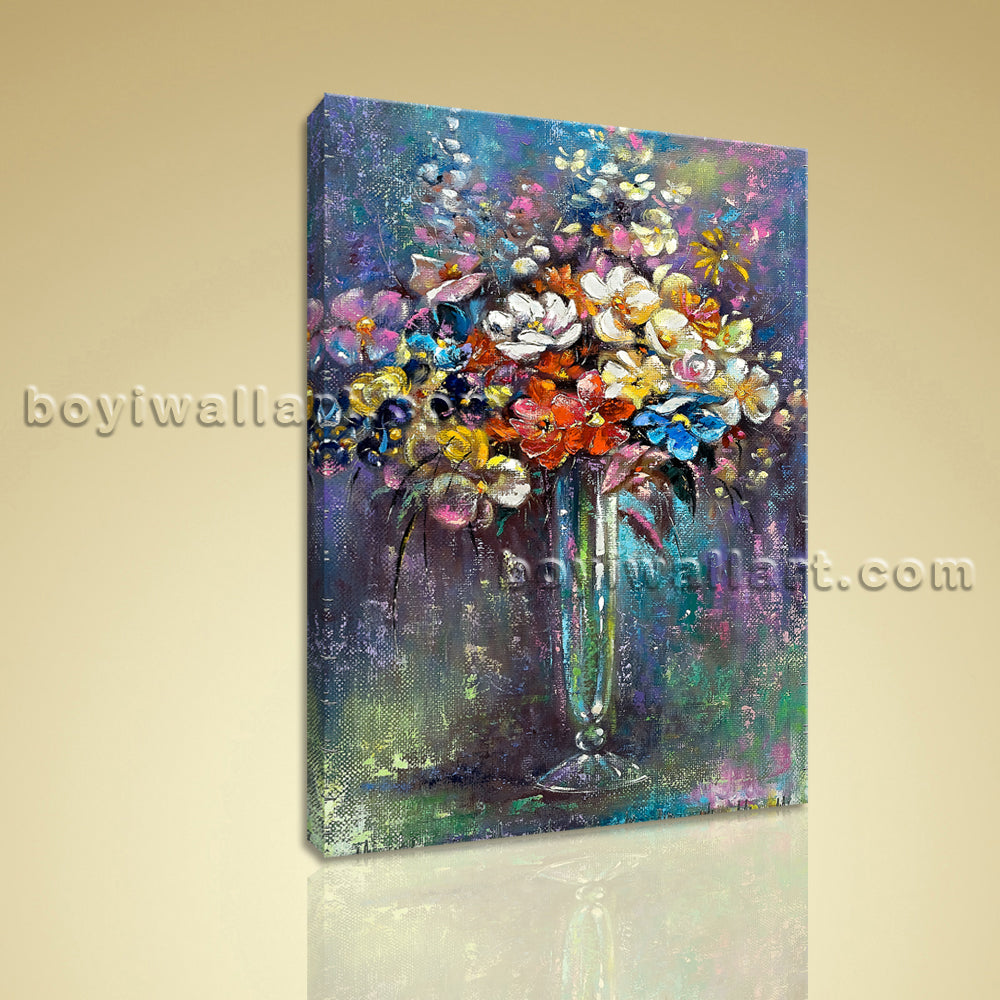 Classical Still Life Bouquet Flower Painting HD Print On Canvas Bedroom Wall Art