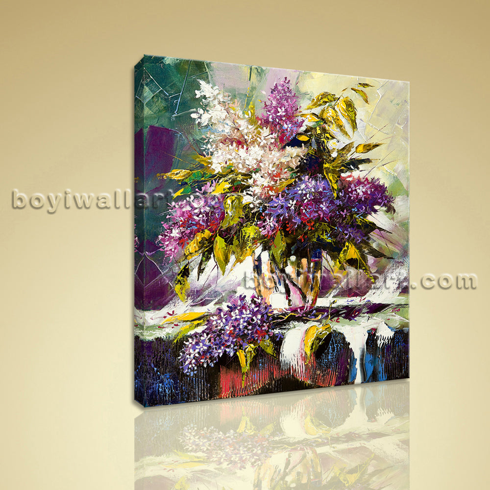 Classical Still Life Bouquet Flower Painting HD Print Canvas Bathroom Wall Art