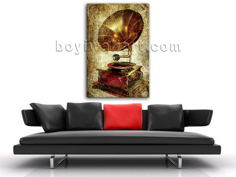 Retro Style Wall Art Picture HD Print Contemporary Abstract Wall Art Phonograph
