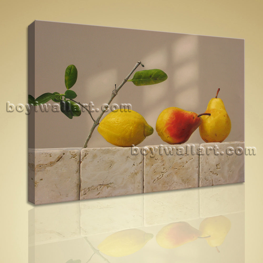 Classical Still Life Painting HD Print On Canvas Food And Beverage Home Decor
