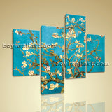 Large Floral Wall Art Flower Hd Print Abstract Living Room Tetraptych Pieces