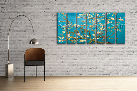 Wall Decor Van Gogh Flower Almond Blossom Oil Painting Art Canvas Prints Giclee