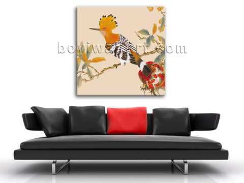 Classical Abstract Floral Bird Painting HD Print Canvas Wall Art For Bedroom