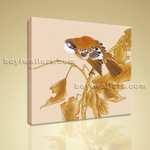 Modern Abstract Floral Painting Bird Tree HD Print Canvas Wall Art Bedroom
